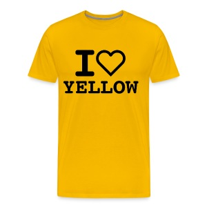T-shirt I LOVE YELLOW  (man) - Maglietta Premium da uomo