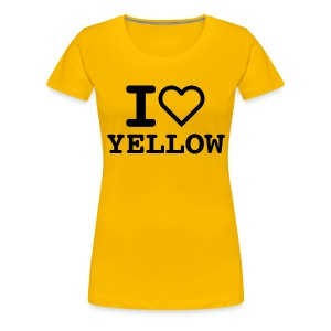 T-shirt I LOVE YELLOW  (woman) - Maglietta Premium da donna