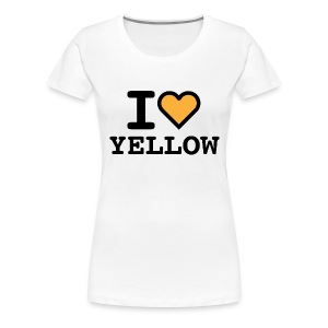 T-shirt white I LOVE YELLOW  (woman) - Maglietta Premium da donna