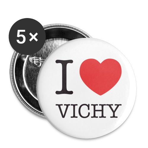 Badges I love Vichy - Badge petit 25 mm