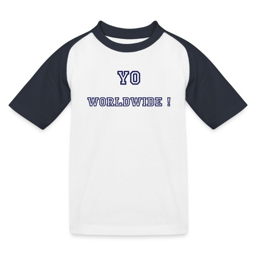 (Enfant) Yo Worldwide ! By Stephany - T-shirt baseball Enfant