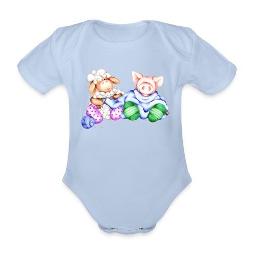 Body Bambina con stampa divertente - Body ecologico per neonato a manica corta