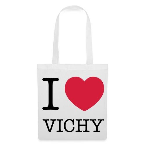 Sac tissu I love Vichy - Tote Bag