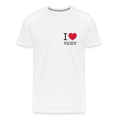 Tee-shirt homme I love Vichy (logo cœur) - T-shirt Premium Homme