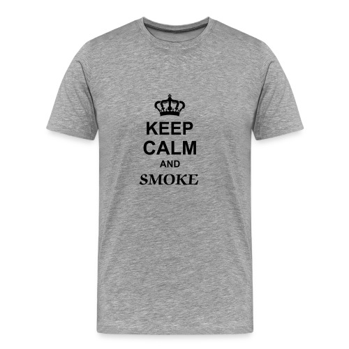 keep calm bro and smoke some... - T-shirt Premium Homme