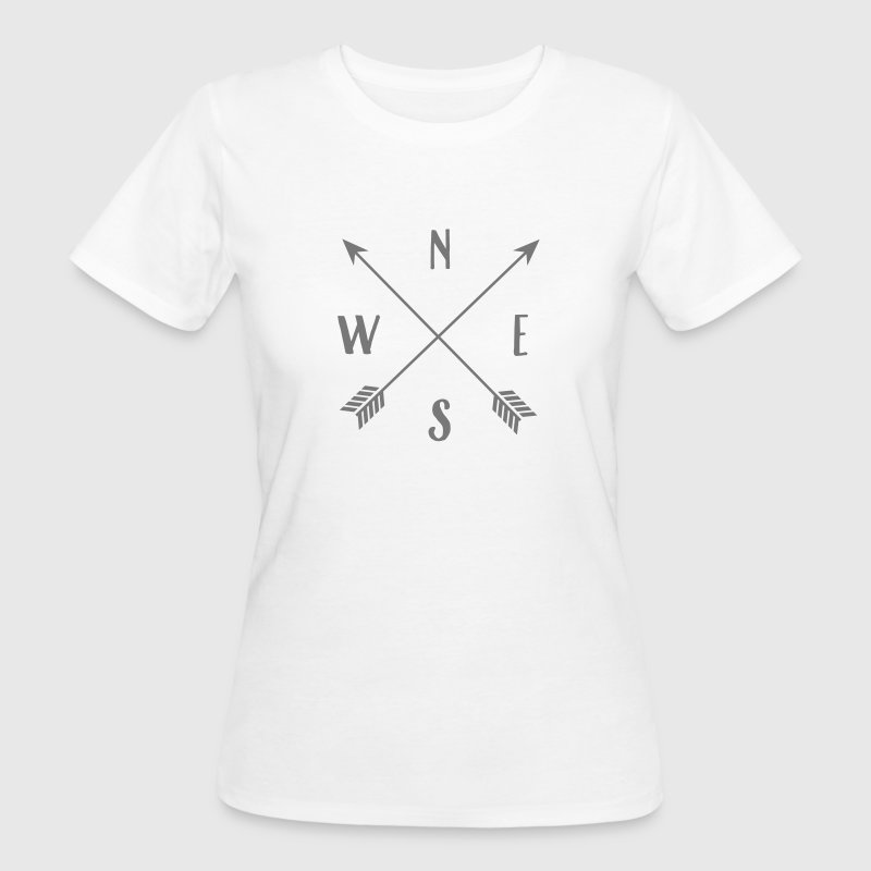 North, South, East, West T-Shirts - Women's Organic T-shirt