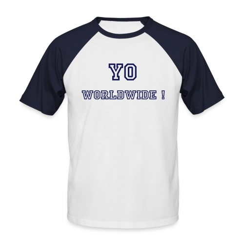 (Homme) Yo Worldwide ! By Stephany - T-shirt baseball manches courtes Homme