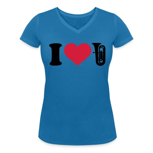 I Love Tube - T-shirt bio col V Stanley & Stella Femme