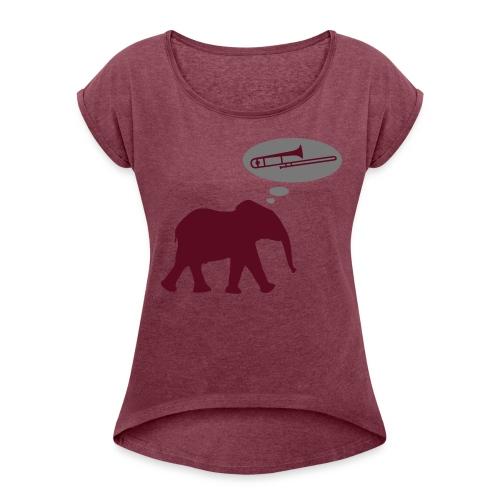 Trombone  - T-shirt à manches retroussées Femme