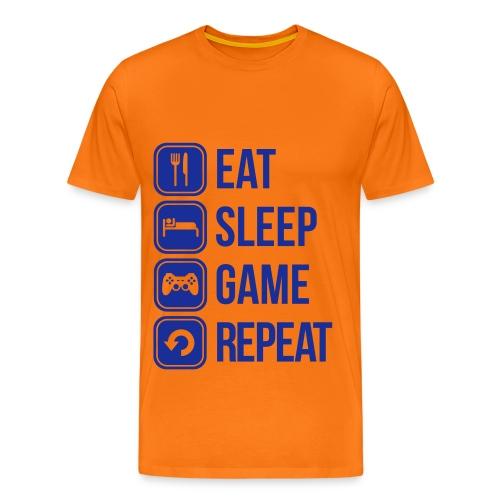 Eat Sleep Gam Repeat  - Homme  - T-shirt Premium Homme