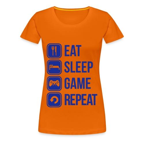 Eat Sleep Gam Repeat  - Femme - T-shirt Premium Femme