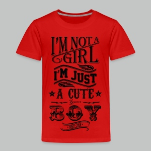 I'm not a girl I'm just a cute boy vintage - Kids' Premium T-Shirt
