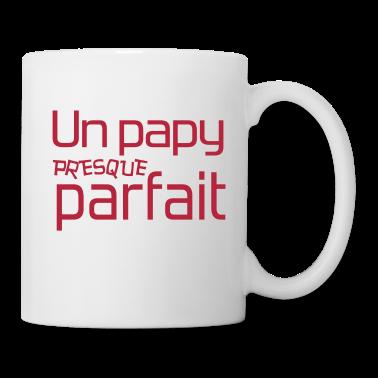 papy grand p re papi grand pere dr le mug spreadshirt. Black Bedroom Furniture Sets. Home Design Ideas