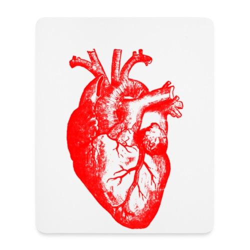 Mousepad mit Herz-Abbild - Mousepad (Hochformat)