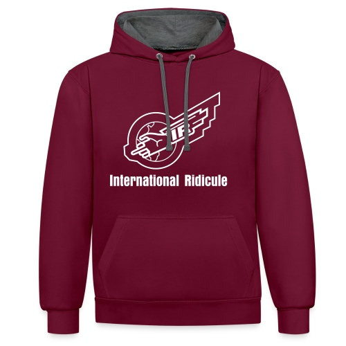 IR Unisex Hoodie - front and back print - Contrast Colour Hoodie
