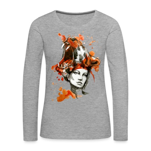 Tora by carographic, Carolyn Mielke - Frauen Premium Langarmshirt