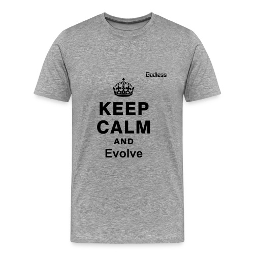 Keep Calm Evolve Grey - Men's Premium T-Shirt