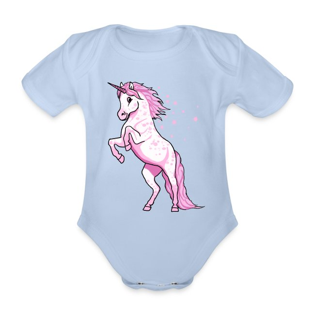 54baee467f6b73 Pünktchen Einhorn rosa steigend - Baby