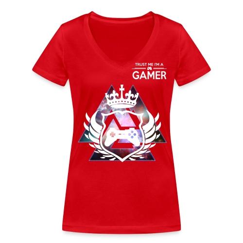 I'm a gamer Woman T-shirt whit U-nek - Vrouwen bio T-shirt met V-hals van Stanley & Stella
