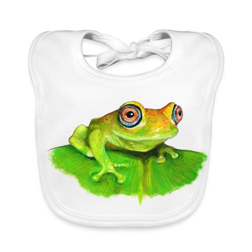 Frosch für Baby - Baby Bio-Lätzchen