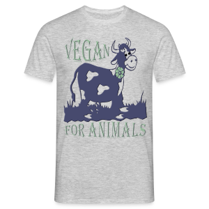 VEGAN FOR ANIMALS - Männer T-Shirt