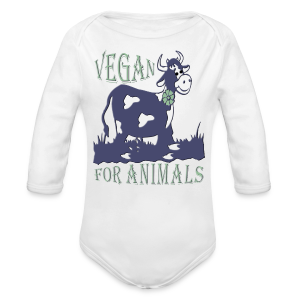 VEGAN FOR ANIMALS - Baby Bio-Langarm-Body