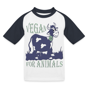VEGAN FOR ANIMALS - Kinder Baseball T-Shirt
