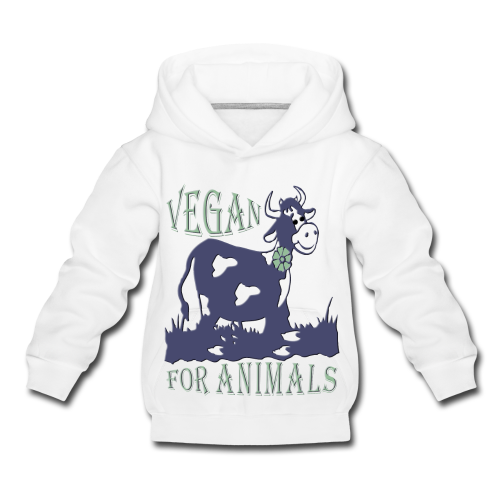 VEGAN FOR ANIMALS - Kinder Premium Hoodie