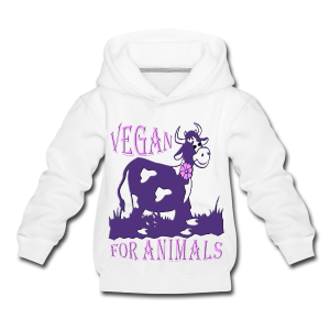 VEGAN FOR ANIMALS - Kinder Premium Hoodie