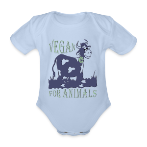 VEGAN FOR ANIMALS - Baby Bio-Kurzarm-Body