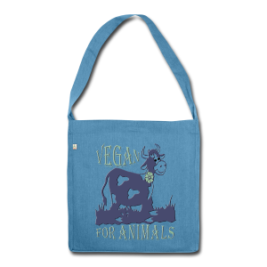 VEGAN FOR ANIMALS - Schultertasche aus Recycling-Material