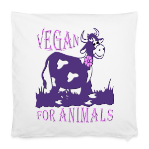 VEGAN FOR ANIMALS - Kissenbezug 40 x 40 cm