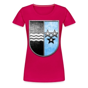 Schweiz Aargau Wappen in Stein gemeißelt - Frauen Premium T-Shirt