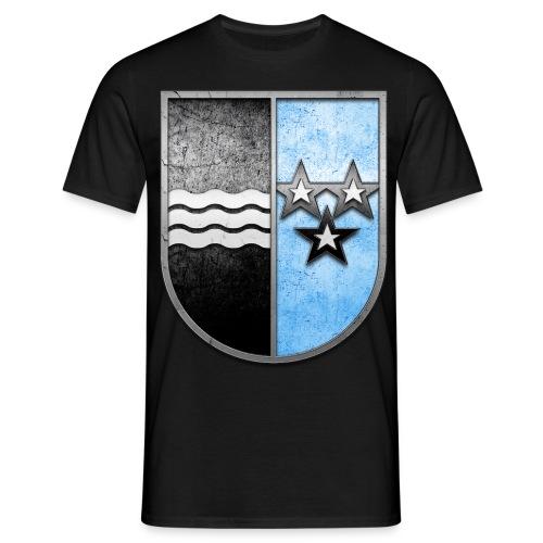 Schweiz Aargau Wappen in Stein gemeißelt - Männer T-Shirt