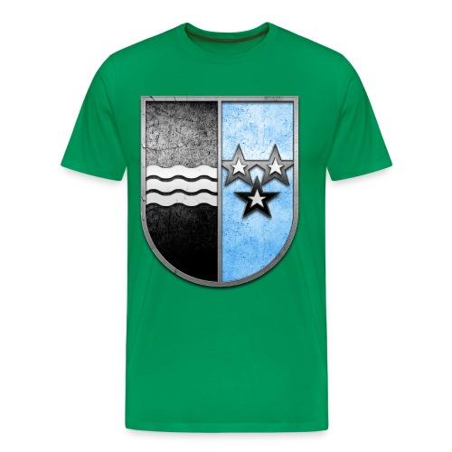 Schweiz Aargau Wappen in Stein gemeißelt - Männer Premium T-Shirt