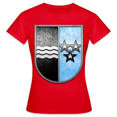 Schweiz Aargau Wappen in Stein gemeißelt - Frauen T-Shirt