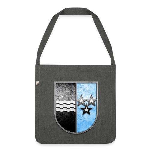 Schweiz Aargau Wappen in Stein gemeißelt - Schultertasche aus Recycling-Material