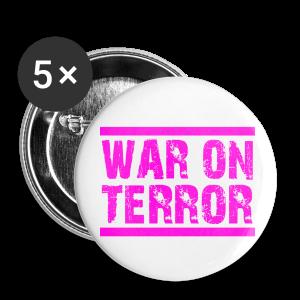 WAR ON TERROR - Buttons groß 56 mm