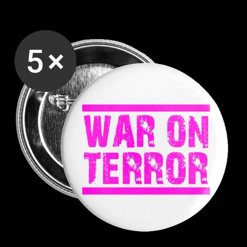 WAR ON TERROR - Buttons groß 56 mm (5er Pack)