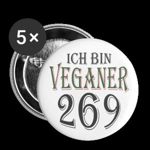 ICH BIN VEGANER - Buttons groß 56 mm