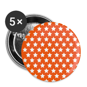 STERNE ORANGE BUTTON - Buttons groß 56 mm