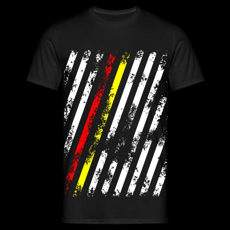 Stripes red/gold - Männer T-Shirt