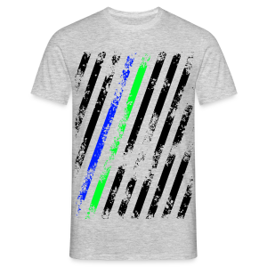 Stripes blue/green - Männer T-Shirt