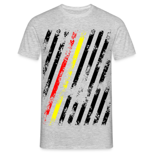 Stripes red/gold - Männer T-Shirt