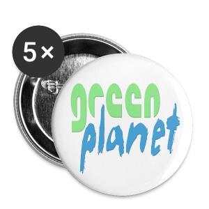 GREEN PLANET - Buttons groß 56 mm