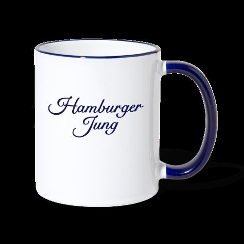 Hamburger Jung Classic (Blau) Tasse - Tasse zweifarbig