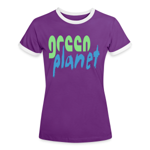 GREEN PLANET - Frauen Kontrast-T-Shirt