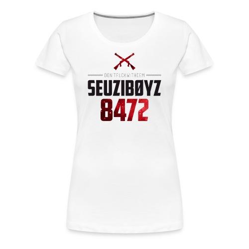 Don't Fuck With Dem! Shirt Schwarz/Rot/Weiss - Frauen Premium T-Shirt