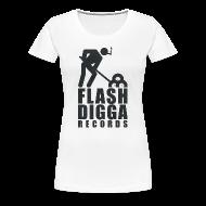 T-Shirts ~ Frauen Premium T-Shirt ~ Flashdigga Shirt Schwarz/Weiss