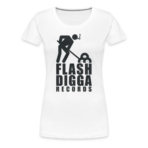 Flashdigga Shirt Schwarz/Weiss - Frauen Premium T-Shirt